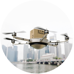 drone package delivery from elisa fi
