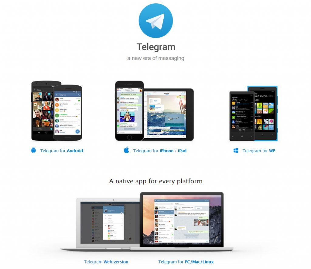 telegram native platforms